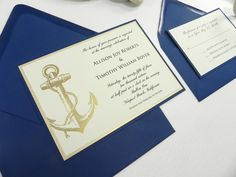 Nautical Wedding Invitation 4 PC Suite by WhiteGownInvitations, $4.50