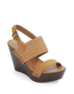 Charles By Charles David Isola Leather Platform Wedges Women's Light B