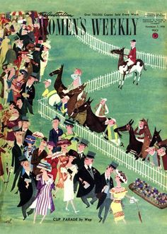 1936 Australian women's magazine cover for the Melbourne Cup; the race that year was won by the 100-1 longshot Wotan www.sofitel-melbourne.com