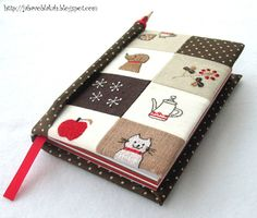hand made notebook, embroideryAltered notebook.  Notebook. Cuaderno decorado. Libro alterado. Book..
