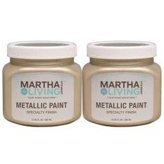 Martha Stewart Living 10 Oz. Metallic Golden Pearl Paint (2 Pack)