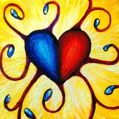 """""""Eclipsed By Glory"""" Acrylic on stretched canvas. © 2012 Julie Joaquin."""