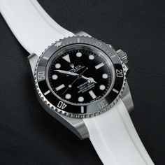 Everest White Rubber creates such a clean, crisp look for any Rolex model