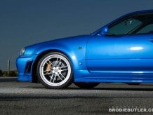 Check out pictures of MLCrisis' Bayside Blue 2001 Nissan Skyline GTR VSpecII Manual 6 - Getrag Coupe at the Shannons Club. Skyline Gtr, Nissan Skyline, R34 Gtr, Brake Pads, Flag, Silver, Cutaway, Science, Silver Hair