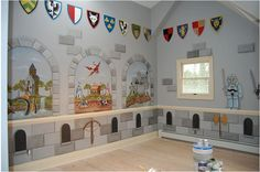 My boys would love this.  I need someone to make our basement walls look like this!