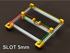 Version adapted for the 80/20 brand series 20-2020 extrusion with 5mm slot. Not tested. Almost all screws is M3 (except x_pul_mounts). For the bot_plate*: threaded hex spacer M3x15mm - 4pcs. Original (slot 6mm): http://www.thingiverse.com/thing:2138286 Extruder mount: http://www.thingiverse.com/thing:2253311 T-nut: http://www.thingiverse.com/thing:1073567