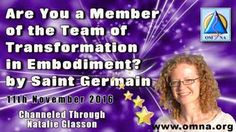 Are You a Member of the Team of Transformation in Embodiment? by Saint Germain