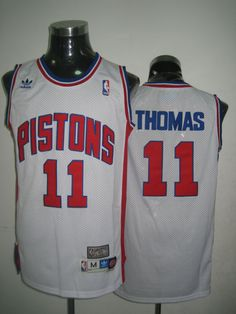 Adidas NBA Detroit Pistons 11 Isiah Thomas Swingman Throwback White Jersey  Cheap Football Shirts 5104a492f
