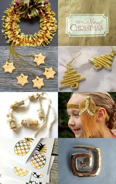 Golden Holiday Moments by Marcia on Etsy--Pinned with TreasuryPin.com #etsyspecialt #gold