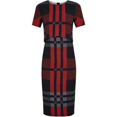 Sportmax Red Plaid Crepe Dress (7 050 UAH) ❤ liked on Polyvore featuring dresses, work dresses, red day dress, tartan plaid dress, crepe dress, plaid dresses and sportmax dress