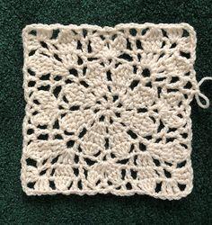 Crochet Squares 79297 Ravelry: Daisy Square One Crotchet Patterns, Crochet Motifs, Granny Square Crochet Pattern, Crochet Stitches Patterns, Doily Patterns, Crochet Chart, Knitting Patterns, Crochet Granny, Ravelry Crochet