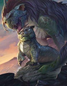 (4) Tumblr Mythical Creatures Art, Mythological Creatures, Magical Creatures, Mystical Creatures Drawings, Fantasy Monster, Monster Art, Creature Concept Art, Creature Design, Fantasy Beasts
