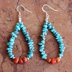 Jewelry Navajo - Navajo Nugget Earrings