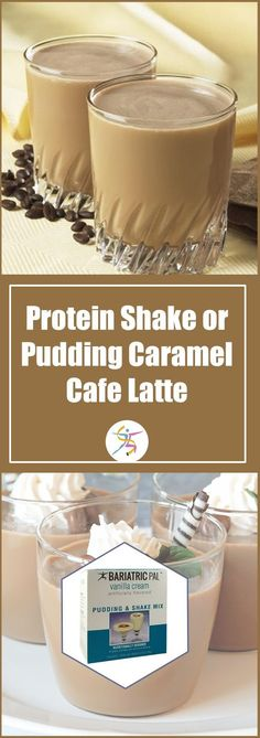 BariatricPal Caramel Café Latte Protein Shake or Pudding have the goodness you need to start the day or get a little pick-me-up for a snack. Theyre a low-calorie treat with 15 grams of protein. A weight loss day couldnt start off better than with th Detox Recipes, Smoothie Recipes, Detox Meals, Paleo Recipes, Shake Mix, Green Coffee Extract, Low Carbohydrate Diet, Salty Snacks, Liquid Diet