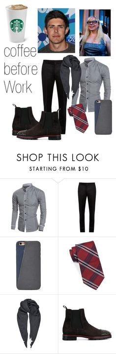 """""""Coffee before work"""" by motannaangel ❤ liked on Polyvore featuring Garcia, Maison Margiela, FOSSIL, Brooks Brothers, Givenchy, Christian Louboutin, men's fashion and menswear"""