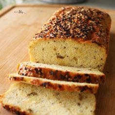 PAN-KETO-4 Comida Keto, Keto Bread, Sin Gluten, Pan Integral, Banana Bread, Healthy Recipes, Healthy Food, Sandwiches, Paleo