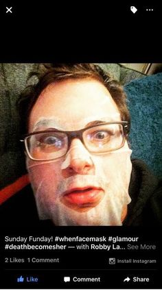 We just LOVE this actor Ryan O'Connor LaConnor thanks for sharing your When selfie. #actor #whenmasks #streep #funnyguy #ladywatch