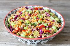 Asian Quinoa Salad Easy salad recipe that is gluten-free, vegan, and vegetarian. Makes a great side dish to any meal