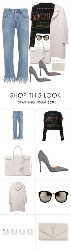 """""""Untitled #1645"""" by samikayy76 on Polyvore featuring 3x1, Chloé, Yves Saint Laurent, Gianvito Rossi, Maison Margiela, Linda Farrow and Topshop"""