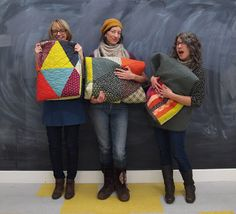 Fancy Tiger Crafts: Pyramid Pals! Three Chicopee Quilts (+ Tutorial!)