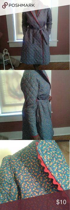 Handmade Vintage-look Quilted Robe Handmade Vintage-look Quilted Robe...cotton polyester blend w/ 2 very deep pockets...never worn; can accommodate several sizes . Excellent condition.  Shhhhh.....Sleepy yet? handmade  Intimates & Sleepwear