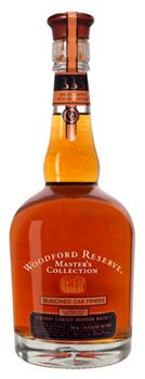 Top 10 Bourbon  Our favorite Woodford Reserve's Masters Collection, the fourth released, is a bold and spicy concoction. As per its name, it is finished in seasoned oak barrels that have been exposed to the outdoors for three to five years — as opposed to the standard three to five months — resulting in a complex flavor profile that combines hints of wood and pepper with smooth and satisfying caramel.