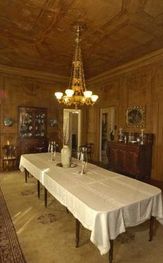 The dining room of the alida harper fowlkes house with furniture from