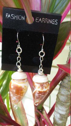 Hawaiian handmade all natural cone shell earring by JNonoCreations on Etsy Coupon code: kauaijewelz for 10% OFF