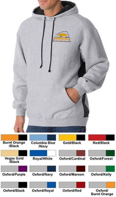 #badger #fleece #colorblock #hoodie #corporate #sweatshirt $34.43 Features: Cross-grain ring-spun 60% cotton, 40% polyester; 2-ply hood with contrast liner and draw-cord; paneled shoulder; contrast rib side panel insert; pouch front side pocket; spandex reinforced rib-knit cuffs and waistband; left-sleeve embroidered logo; 9.5-ounce.  http://ezcorporateclothing.com/custom/105-Hooded-Sweatshirts/870-Badger-Cross-Grain-Fleece-Colorblock-Hood/