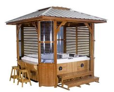 Hot Tub Gazebo   Hot Tub Enclosure with Gazebo Hot Tub Enclosure Ideas