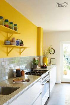 Kitchen ideas yellow walls bedrooms 33 New Ideas Yellow Kitchen Walls, Paint For Kitchen Walls, Yellow Kitchen Decor, Kitchen Wall Colors, Boho Kitchen, Yellow Walls, Mustard Kitchen, Mustard Walls, Kitchen Flooring