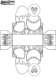 Bastelvorlage zu Ostern. Osternest selber machen: Osterkörbchen malen, bemalen, verzieren. Kostenlose Vorlage Osterkorb ausdrucken, ausschneiden, ausmalen Easter Colouring, Coloring, Spring, Minis, Blog, Molde, Bricolage Noel, Easter Basket Template, Blogging