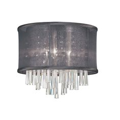 Josephine 3 Light Crystal Flush Mount