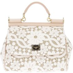 DOLCE & GABBANA lace print tote ($1,900) ❤ liked on Polyvore