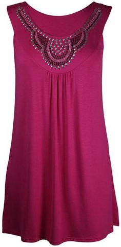 Diamond Scoop Sleeveless Casual Mid-length Plus Size Blouse - Meet Yours Fashion - 6