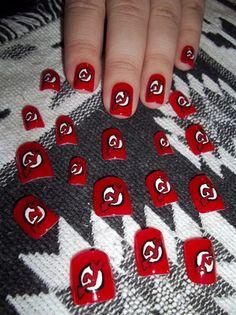 New Jersey Devils Nails New York Giants, New York Yankees, Women's Hockey, Hockey Stuff, Hockey Nails, Fun Nails, Nice Nails, Tough As Nails, New Jersey Devils