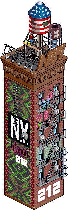 Backsteinscraper, by eboy.