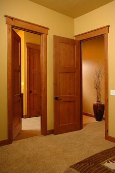 "Craftsman Interior Doors 1-3/4"" Thick Knotty Alder, 3-Panel Horizontal, Honey Stain"