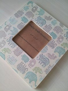 3.5 x 3.5 Elephant Picture Frame by CraftyCraftCreations on Etsy, $14.00