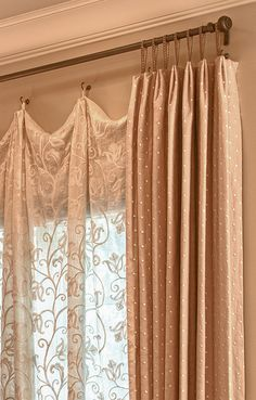 Bedroom Curtain Ideas (For Master, Small, and Children Bedroom) - Curtains Curtain Styles, Curtain Designs, Curtain Ideas, Home Curtains, Curtains Living, Window Coverings, Soft Furnishings, Diy Home Decor, Bedroom Decor