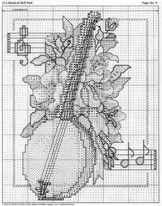 Schema punto croce Strumenti A Corde 06