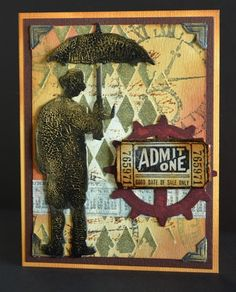 Tim Holtz male card:
