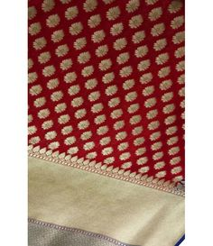 Maroon Handloom Pure Chanderi Georgette Saree