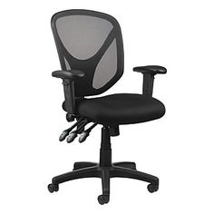 Realspace MFTC 200 Multifunction Ergonomic Super Task Chair Black, Overall Dimensions 41 x x 25 Meets andor exceeds ANSIBIFMA performance standards at Office Depot & OfficeMax. Best Ergonomic Office Chair, Best Office Chair, Ergonomic Chair, Office Chairs, Desk Chairs, Wooden Chairs, Dining Chair, Office Depot Desks, Office Desk