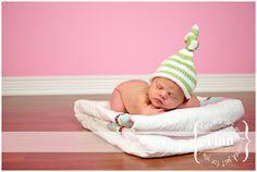 Knit Baby Hat Newborn Hand Knitted Striped by LittleBirdLucy