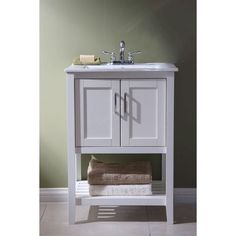 23 Inch Bathroom Vanity Set With White Porcelain Top