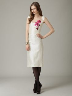 L'Wren Scott silk dress. Love the flower print.