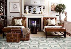 Jim Aman and John Meeks custom wool and silk Stark carpet