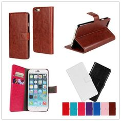 """For iphone 6 Plus 5.5"""" Case High Quality  Wallet Fashion Design Holster Flip Crazy-Horse PU Leather Cases Cover D428-B"""