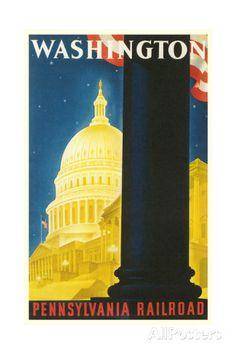 Washington, DC Travel Poster Print at AllPosters.com